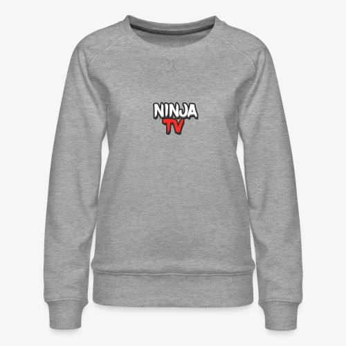 NINJA TV - Women's Premium Slim Fit Sweatshirt