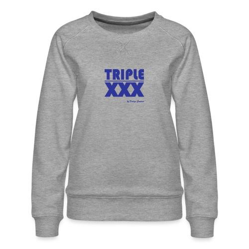 XXX BLUE - Women's Premium Sweatshirt
