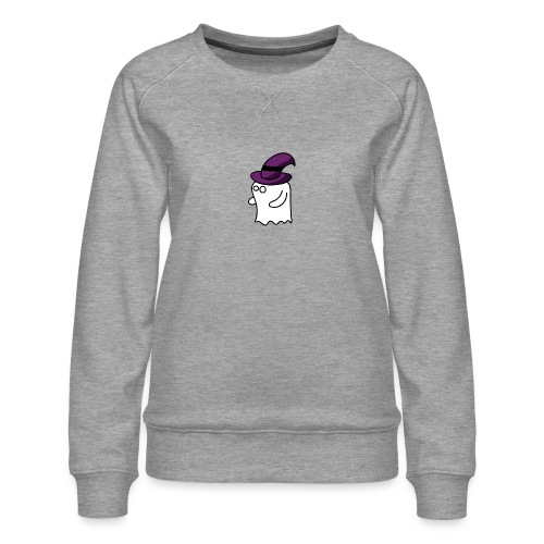 Little Ghost - Women's Premium Slim Fit Sweatshirt