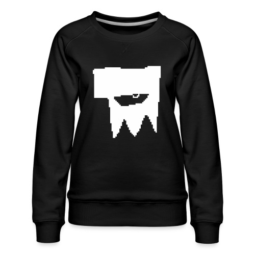 KOOLSKULL CLASSIC 2008 MS PAINT LOGO - Women's Premium Sweatshirt
