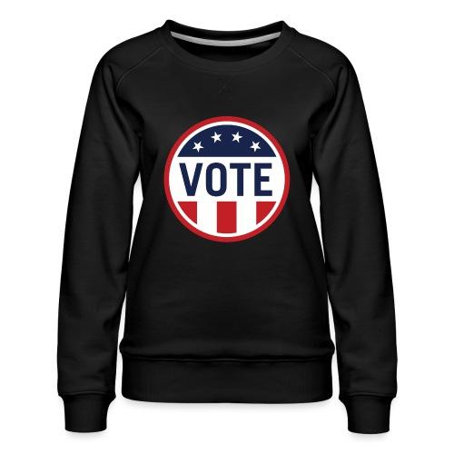 Vote Red White and Blue Stars and Stripes - Women's Premium Sweatshirt