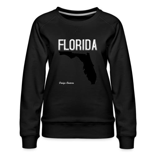 FLORIDA REGION MAP WHITE - Women's Premium Sweatshirt