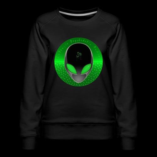 Psychedelic Alien Dolphin Green Cetacean Inspired - Women's Premium Sweatshirt