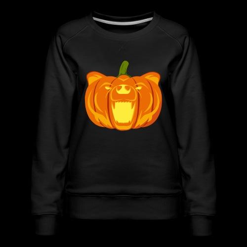 Pumpkin Bear - Women's Premium Sweatshirt
