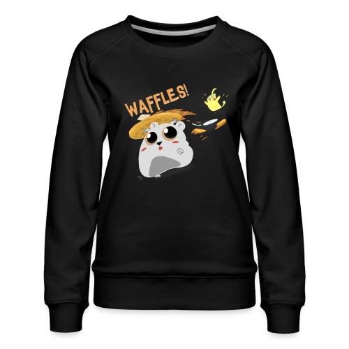 Waffles! - Women's Premium Sweatshirt