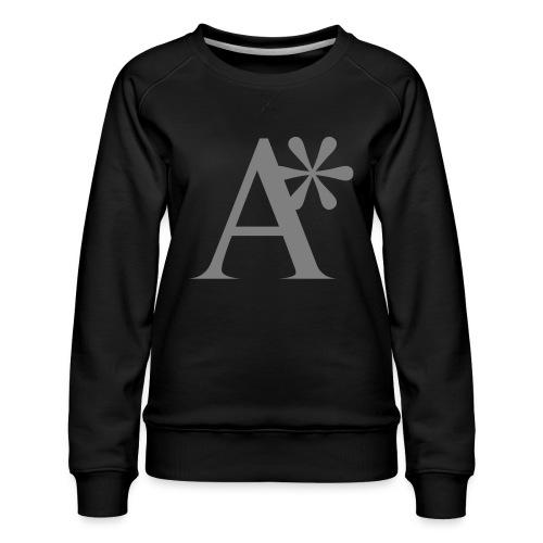A* logo - Women's Premium Slim Fit Sweatshirt