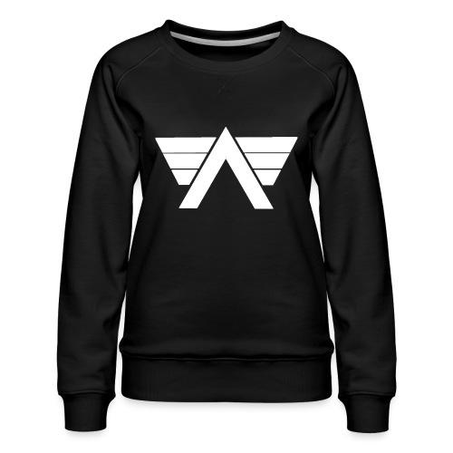 Bordeaux Sweater White AeRo Logo - Women's Premium Sweatshirt