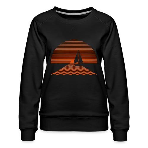 Sunset Sailboat - Women's Premium Sweatshirt