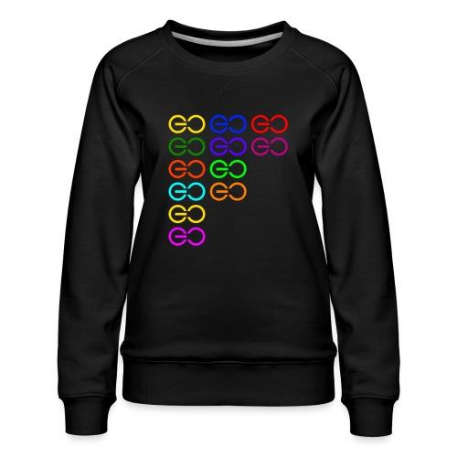 GOGOGO multi color - Women's Premium Sweatshirt