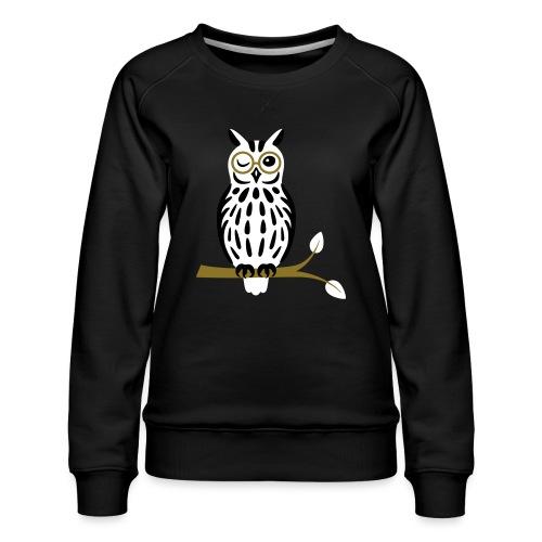 Winky Owl - Women's Premium Sweatshirt