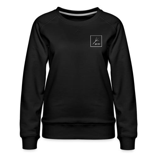 White Square - Women's Premium Slim Fit Sweatshirt
