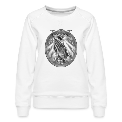 Praying Hands by RollinLow - Women's Premium Sweatshirt