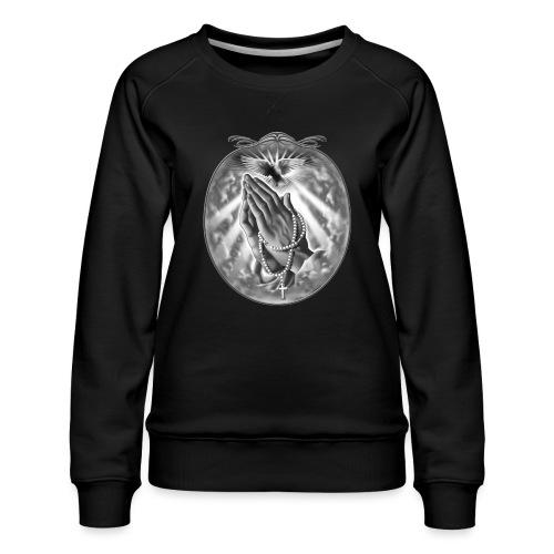 Praying Hands by RollinLow - Women's Premium Slim Fit Sweatshirt