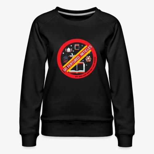 unFeatured Articles Logo - Women's Premium Sweatshirt