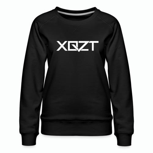 xqzt logotee white png - Women's Premium Sweatshirt