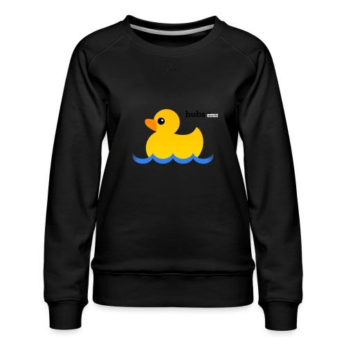 Hubs Duck - Wordmark and Water - Women's Premium Sweatshirt