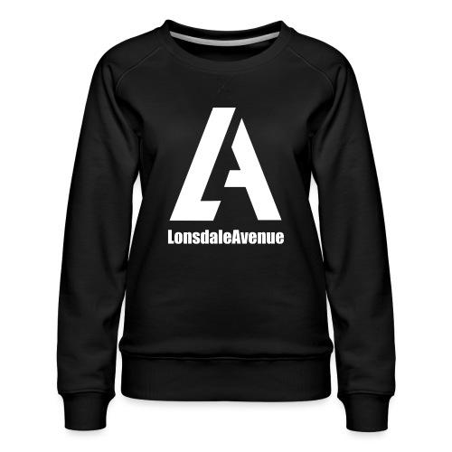 Lonsdale Avenue Logo White Text - Women's Premium Sweatshirt