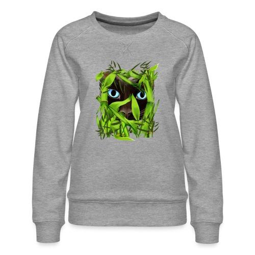 Siamese Cat Eyes in Bambo - Women's Premium Sweatshirt