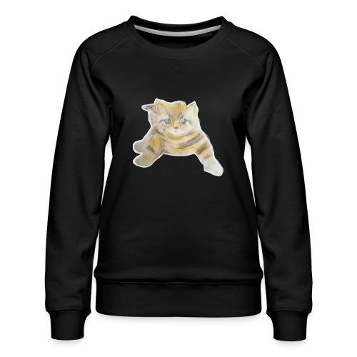 sad boy - Women's Premium Slim Fit Sweatshirt