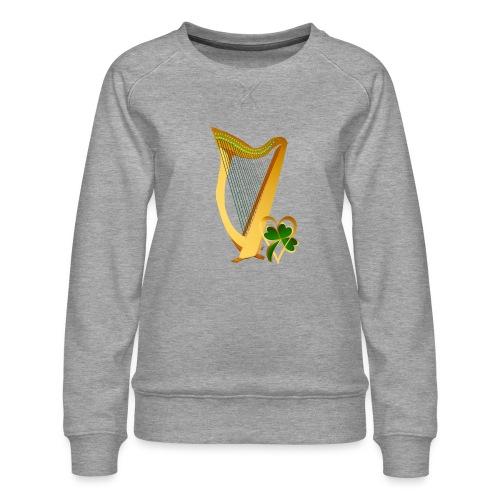Celtic Irish gold Harp - Women's Premium Sweatshirt