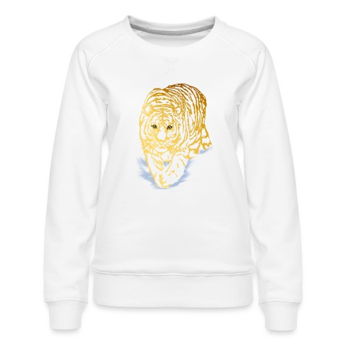 Golden Snow Tiger - Women's Premium Sweatshirt