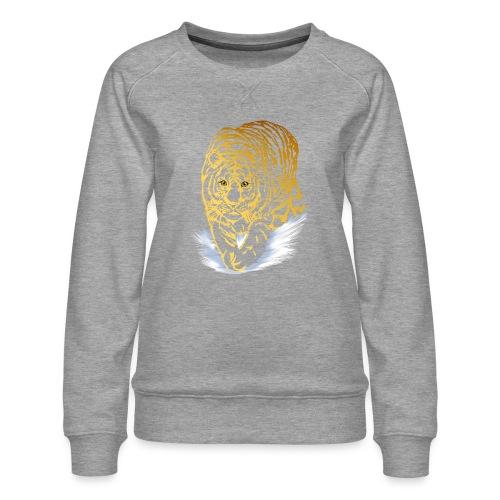 Golden Snow Tiger - Women's Premium Sweatshirt