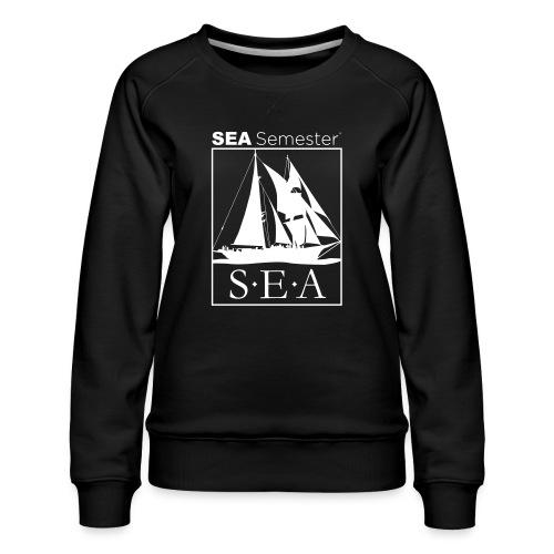 SEA_logo_WHITE_eps - Women's Premium Slim Fit Sweatshirt