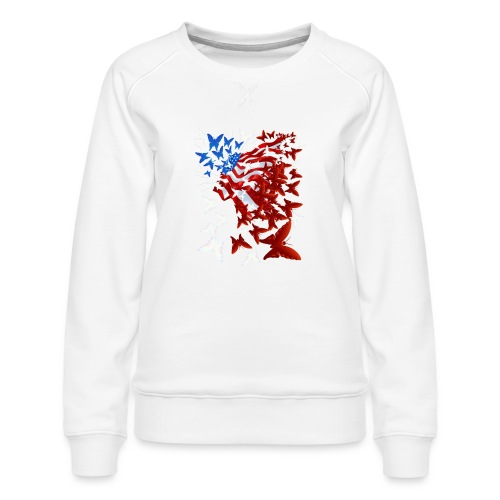 The Butterfly Flag - Women's Premium Sweatshirt
