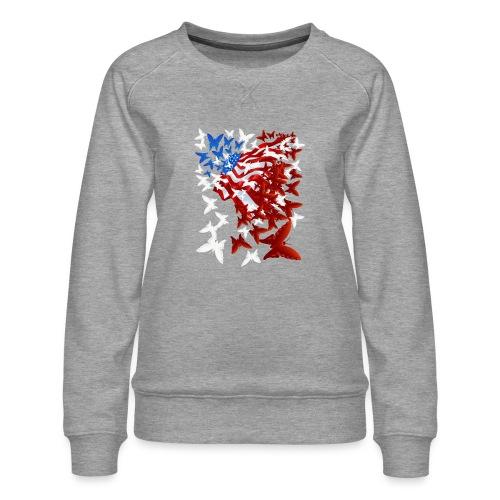 The Butterfly Flag - Women's Premium Sweatshirt