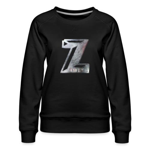 Zawles - metal logo - Women's Premium Sweatshirt