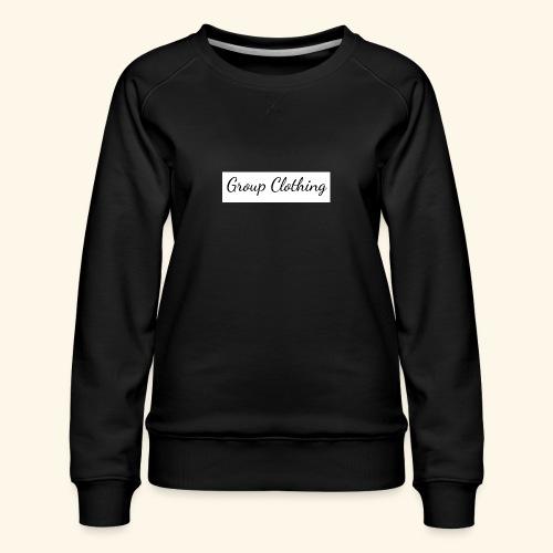 Cursive Black and White Hoodie - Women's Premium Sweatshirt
