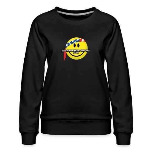 Happy Face USA - Women's Premium Sweatshirt