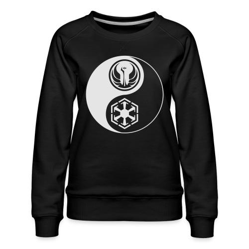 Star Wars SWTOR Yin Yang 1-Color Light - Women's Premium Sweatshirt