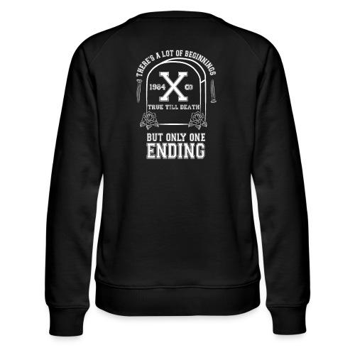 True Till Death Montreal SXE - Women's Premium Slim Fit Sweatshirt
