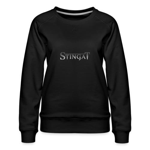 Stinga T LOGO - Women's Premium Slim Fit Sweatshirt