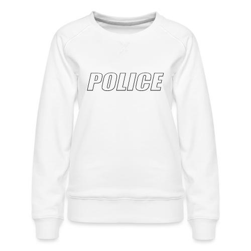 Police White - Women's Premium Sweatshirt