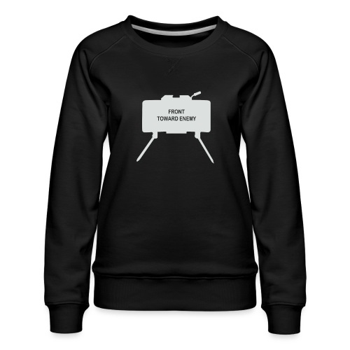 Claymore Mine (Minimalist/Light) - Women's Premium Slim Fit Sweatshirt