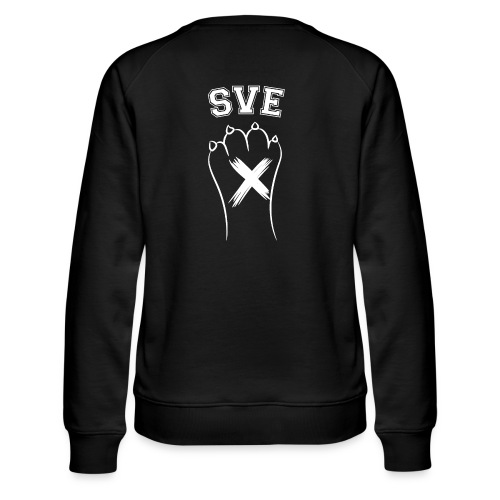 SVE Vegan Straight Edge Montreal SXE - Women's Premium Slim Fit Sweatshirt