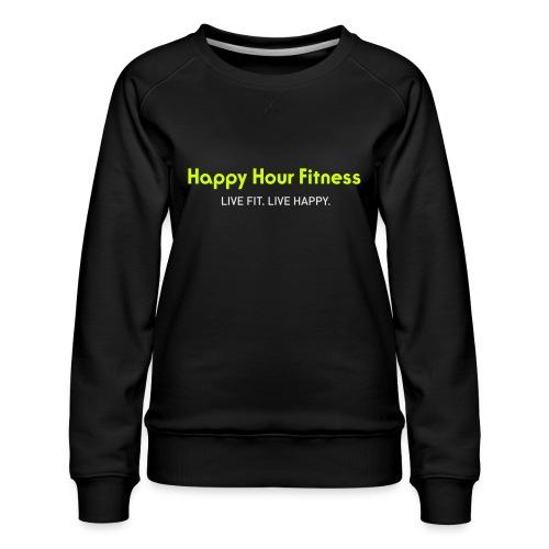 HHF_logotypeandtag - Women's Premium Slim Fit Sweatshirt