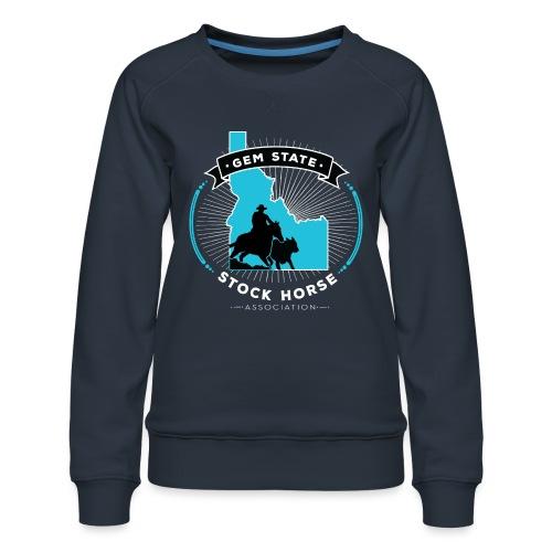 Turquose Sunburst Logo - Women's Premium Sweatshirt