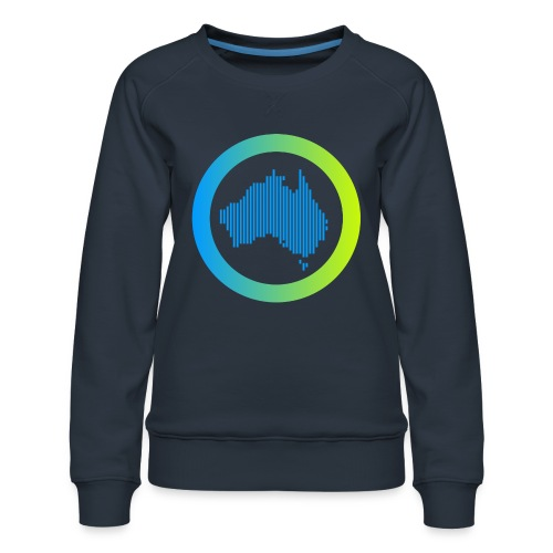 Gradient Symbol Only - Women's Premium Sweatshirt