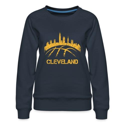 Cleveland Basketball Skyline - Women's Premium Sweatshirt