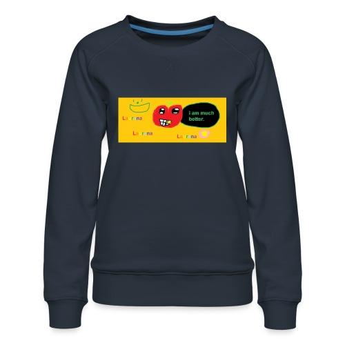 pechy vs apple - Women's Premium Sweatshirt