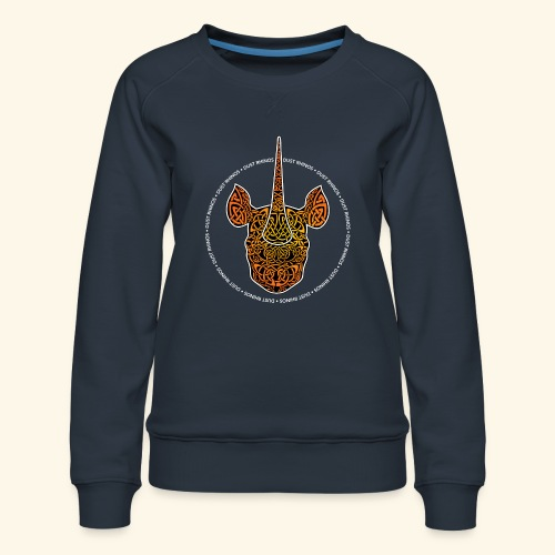 Dust Rhinos Orange Knotwork - Women's Premium Sweatshirt