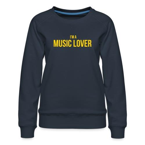 Music Lover small - Women's Premium Sweatshirt