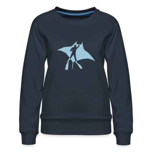 manta ray sting scuba diving diver dive fish ocean - Women's Premium Sweatshirt