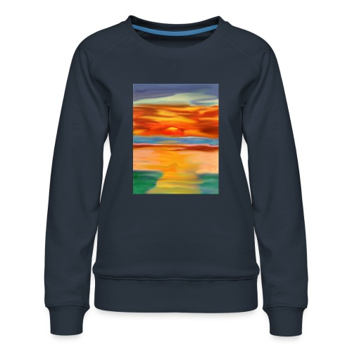 sketch 1527086621355 here comes the sun - Women's Premium Sweatshirt