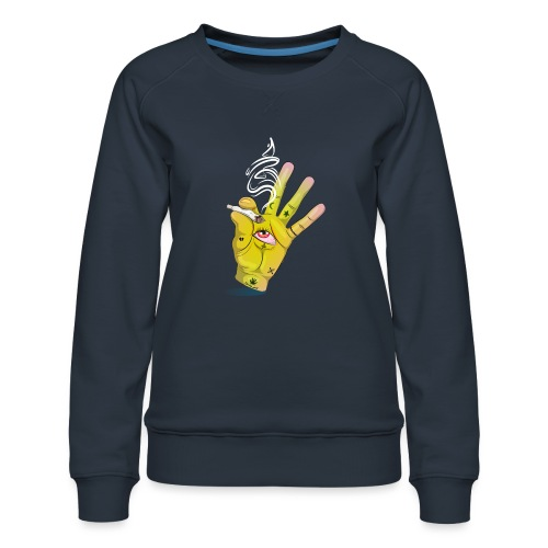 Khalwi High Khamsa - Women's Premium Sweatshirt