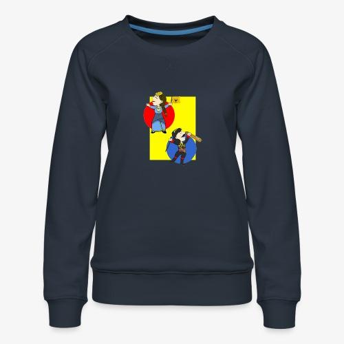 Cartoon - Pontios/lyra & Pontia/flag - Women's Premium Sweatshirt