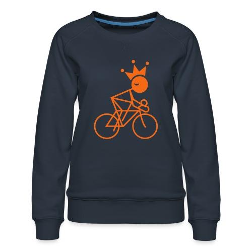Winky Cycling King - Women's Premium Slim Fit Sweatshirt